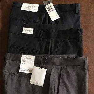 Calvin Klein 32x32 dress pants 3 pairs NWT